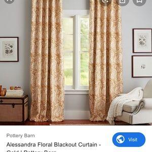 PB -Alessandra Gold lined drapes